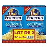Ferrero Couscous Graine de couscous moyen les 2 boites de 1 kg
