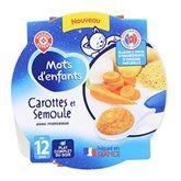 Assiette Mots d'Enfants Carotte/semoule 12 mois - 230g