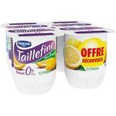 Taillefine Yaourt citron 0% MG les 4 pots de 125 g - offre découverte