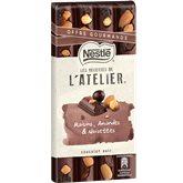 Nestlé Chocolat noir  L'Atelier Raisin noisettes amande - 195g