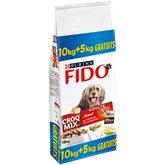 Fido Croq Mix - Croquettes Adulte bœuf aux céréales & lég... le sac de 10 kg