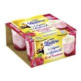 Liégeois au yaourt sur lit de framboise LA LAITIERE 4x100g