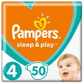 Couches Pampers Sleep & Play Géant -Taille 4 - x50