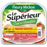Fleury michon 2(4 tranches jambon le supérieur a.c. ) + bo...