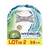 Wilkinson Lames  Hydro 5 Sensitive - Lot de 2x4