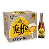 Leffe Bière blonde Abbaye  6,6 %vol. - 12x33cl