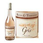 Rives et Terrasses Vin rosé  Gris de gris IGP - 75cl