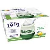 Danone Yaourt lait entier  Citron - 4x125g