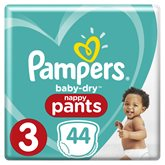 Pampers Culottes Pampers Baby Dry T3 : 6/11kg - x44