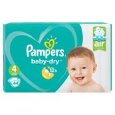 Pampers Couches  - Baby Dry T4 : 9/14kg - x44 changes