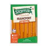 Stoeffler Saucisses Francfort Stoeffler Cuites et fumées - 6x40g