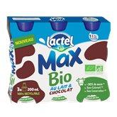 Lactel Boisson lactée Bio Lactel Max Chocolat - 3x20cl