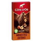 Côte d'Or Tablette chocolat Côte d'or Noir noisettes entières - 180g