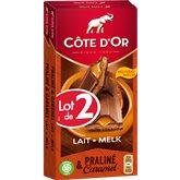 Côte d'Or Côte d'or praline coeur coulant 2x200g