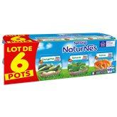 Nestlé Repas bébé Naturnes - 4/6 mois Epinards potiron - 6x130g