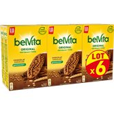LU Biscuit petit déjeuner Belvita Chocolat - 6x400g