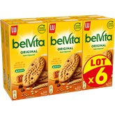LU Biscuit petit déjeuner Belvita Miel/Pépites chocolat - 6x435g
