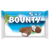 Bounty Barre chocolatée Bounty 5x2 barres - 285g