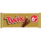 Twix Barre chocolatée Twix x6 barres - 300g