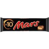Mars Barre chocolatée Mars x10 barres - 450g
