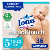 Lotus Couches Lotus Baby Touch T5 : 12/22kg - x36 changes