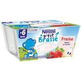 Nestlé Dessert P'tit brassé Nestlé Fraise 4x100g