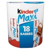 Kinder Barres Kinder chocolat maxi x18 barres - 378g