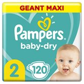 Pampers Couches Baby Dry Pampers Géant Maxi - T2 - x120