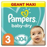Pampers Couches Baby Dry Pampers Géant maxi - T3 - x104