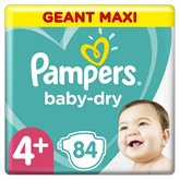Pampers Couches Baby Dry Pampers Géant Maxi - T4+ - x84