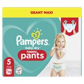 Pampers Culottes Baby Dry Pampers Géant maxi - T5 - x74