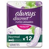 Always Serviette Always Discreet Normal - x12