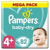 Pampers Couches Pampers Baby Dry Taille 4+ - x82