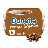 Danone Mousse liégeoise Danette Café - 8x80g