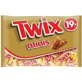 Twix Mini barre chocolatée Twix 19 barres - 400g