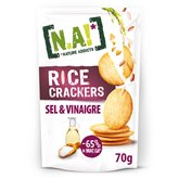[N.A!] Nature Addicts Crackers rice N.A! Sel et vinaigre - 70g