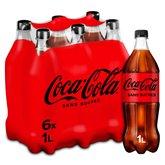 Coca Cola Soda Coca-Cola - SANS SUCRES Bouteilles - 6x1L